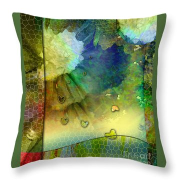 Throw Pillow featuring the painting Angiospermae by Allison Ashton