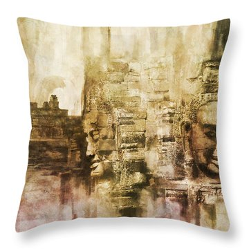 Angkor Throw Pillow by Catf