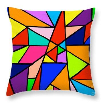 Angle Fun Throw Pillow by Anita Lewis