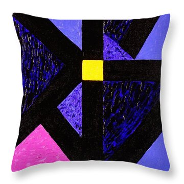 Angles Throw Pillow by Celeste Manning