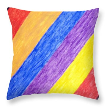 Throw Pillow featuring the painting Angles by Stormm Bradshaw