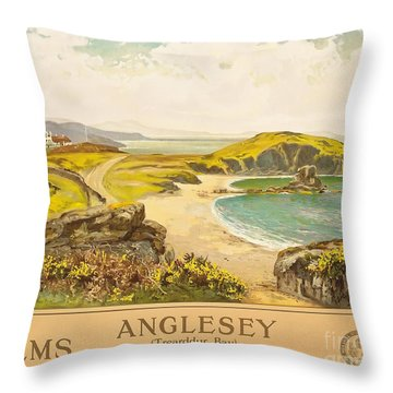 Anglesey Throw Pillow by Henry John Yeend King