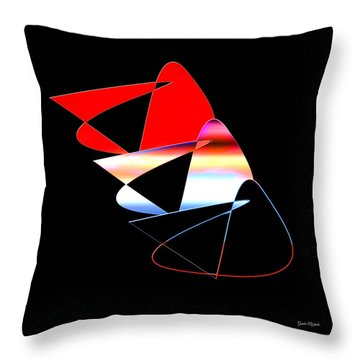 Throw Pillow featuring the digital art Angry Birds by Gunter Nezhoda