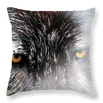 Angry Fog Throw Pillow