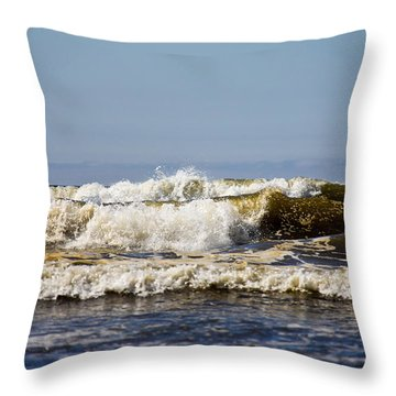 Throw Pillow featuring the photograph Angry Ocean by Aaron Berg