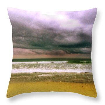 Angry October Sky Throw Pillow