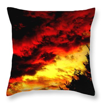 Angry Skies Throw Pillow by James C Thomas