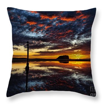 Throw Pillow featuring the photograph Angry Sky by Trena Mara