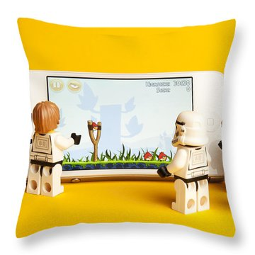 Angry Birds Storm Troopers Throw Pillow