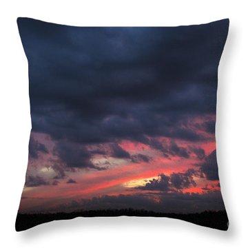 Angry Sunset Throw Pillow