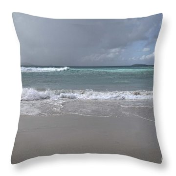 Angry Trunk Bay Throw Pillow