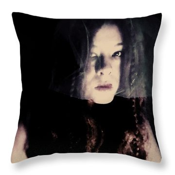 Throw Pillow featuring the photograph Angry With You  by Jessica Shelton