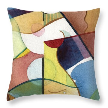 Angular Allure Throw Pillow
