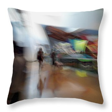 Throw Pillow featuring the photograph Angularity by Alex Lapidus