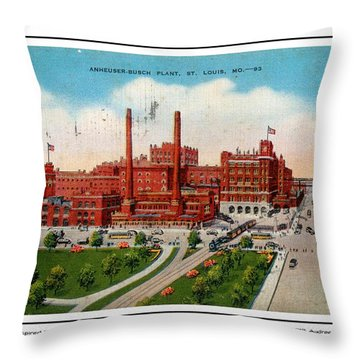 Anheuser Busch Plant 1943 Throw Pillow