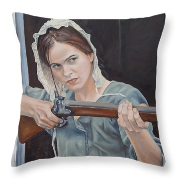 Ani Get Your Gun Throw Pillow
