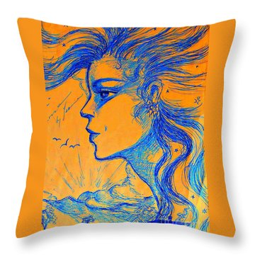 Anima Sunset Throw Pillow by Leanne Seymour