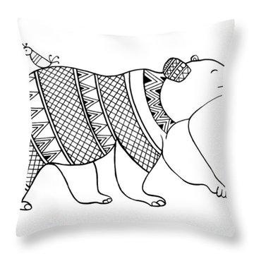 Animal Bear Throw Pillow