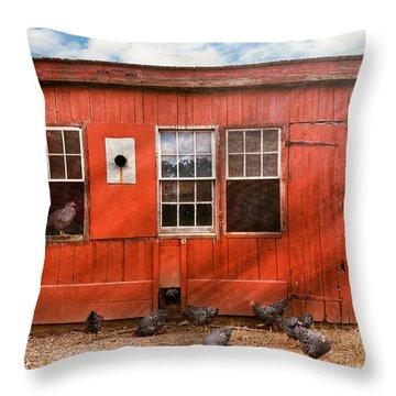 Animal - Bird - Bird Watching Throw Pillow by Mike Savad