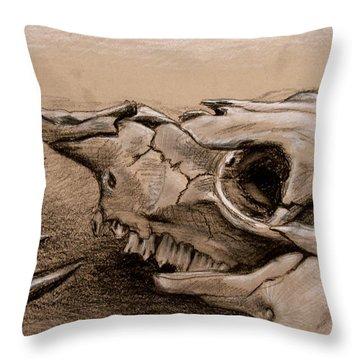 Animal Bones Throw Pillow
