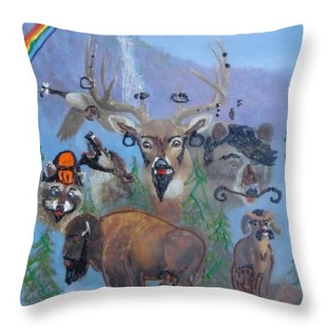 Throw Pillow featuring the painting Animal Equality by Lisa Piper