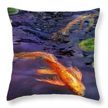 Animal - Fish - There's Something About Koi  Throw Pillow by Mike Savad