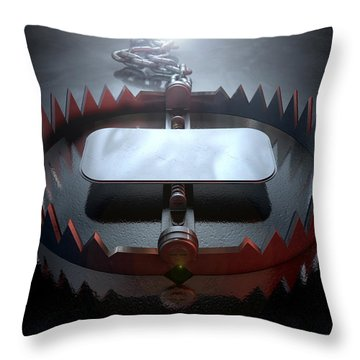 Animal Trap Dramatic Throw Pillow