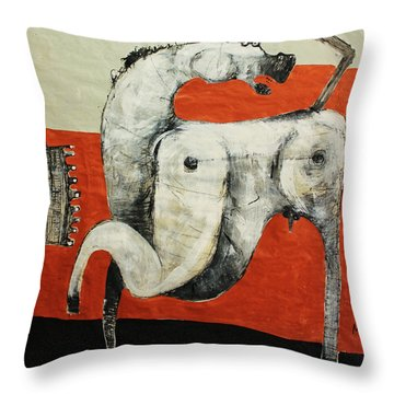 Animalia  Equos No 3 Throw Pillow