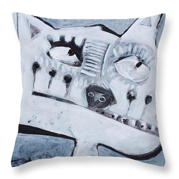 Animalia Feles No. 10 Throw Pillow