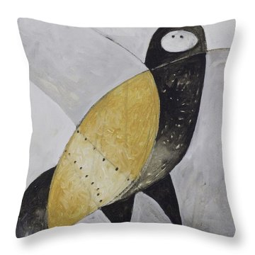 Animalia Sitting Owl  Throw Pillow
