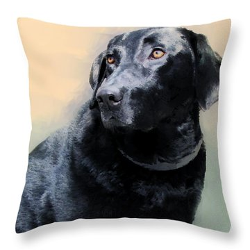animals - dogs- Loyal Friend Throw Pillow