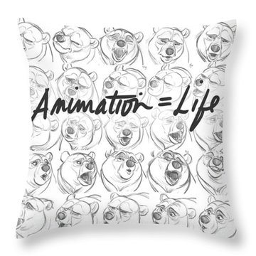 Throw Pillow featuring the digital art Animation  Life by Aaron Blaise