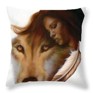 Animism  Throw Pillow by Luis  Navarro