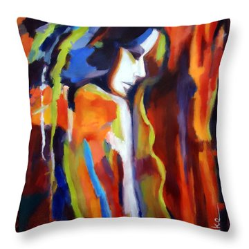 Throw Pillow featuring the painting Animus by Helena Wierzbicki