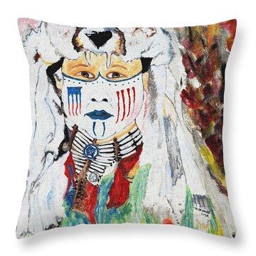 Warrior Throw Pillow by Ayasha Loya