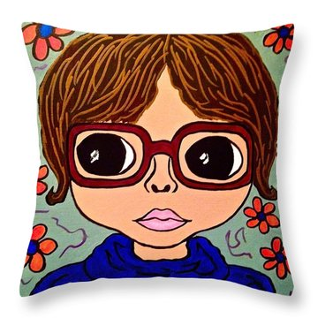 Anita Throw Pillow by Chrissy  Pena