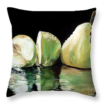 Anjou's Splash Throw Pillow by Iya Carson