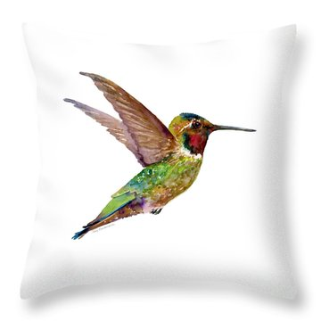 Anna Hummingbird Throw Pillow