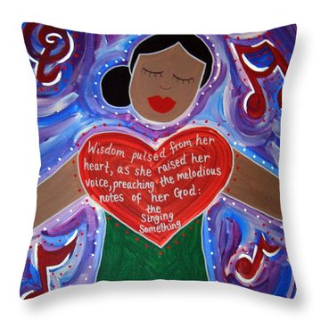 Anna Julia Cooper Throw Pillow by Angela Yarber