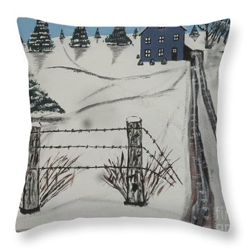 Anna Koss Farm Throw Pillow by Jeffrey Koss