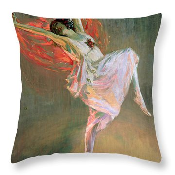 Anna Pavlova, 1910 Throw Pillow