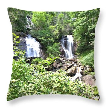 Anna Ruby Falls - Georgia - 1 Throw Pillow