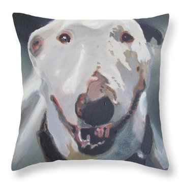 Throw Pillow featuring the painting Anna The Bullie by Eric Dee