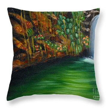 Annadale Waterfall Throw Pillow