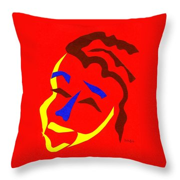 Throw Pillow featuring the digital art Annalyn by Delin Colon