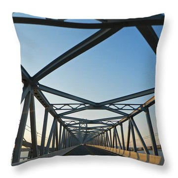 Annapolis Bay Bridge At Sunrise Throw Pillow