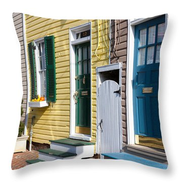 Annapolis Historic Homes I Throw Pillow by Clarence Holmes