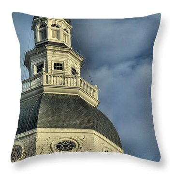 Annapolis Statehouse Throw Pillow