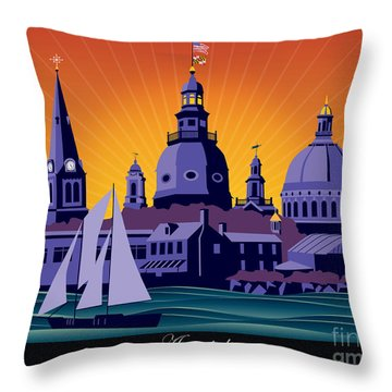 Annapolis Steeples And Cupolas Throw Pillow
