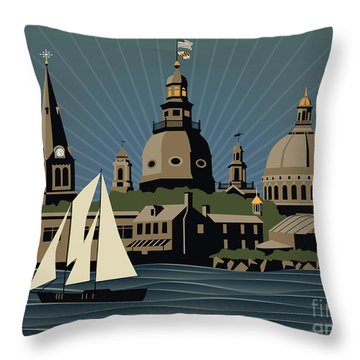 Annapolis Steeples And Cupolas Serenity Throw Pillow